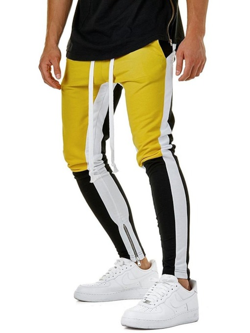 Color Block Slim Fit Men's Sports Pants