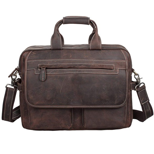 Casual Retro Leather Laptop Briefcase