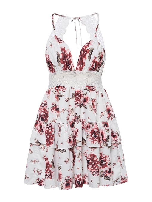 Floral Halter Floral Women's Sexy Dress