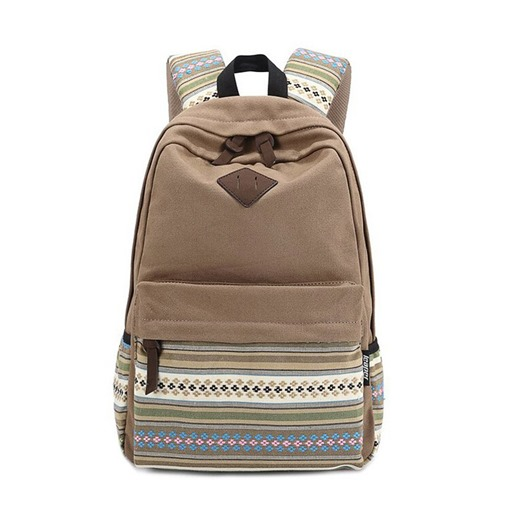 Modern Floral Canvas Soft Women Backpack