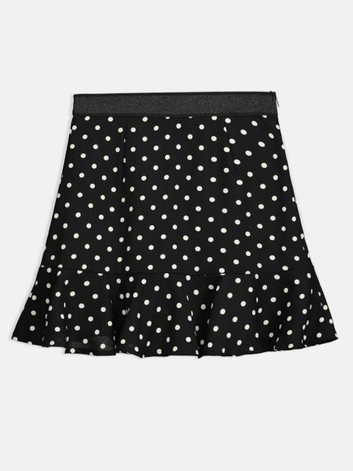 A Line Polka Dots Ruffle Women's Mini Skirt