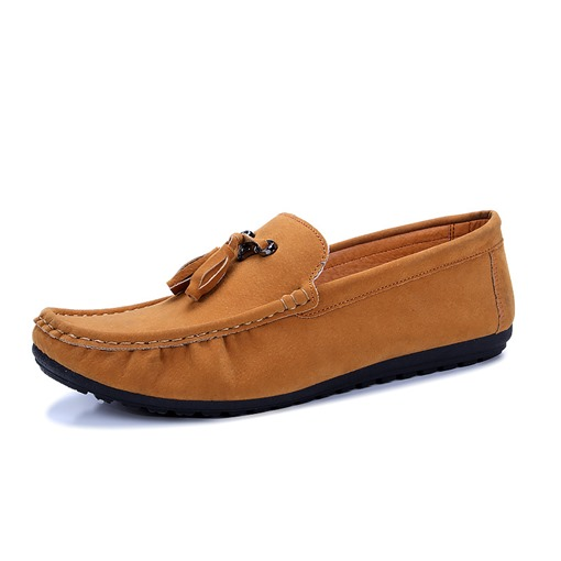 Thread Tassel Round Toe Slip-On Trendy Men's Loafers
