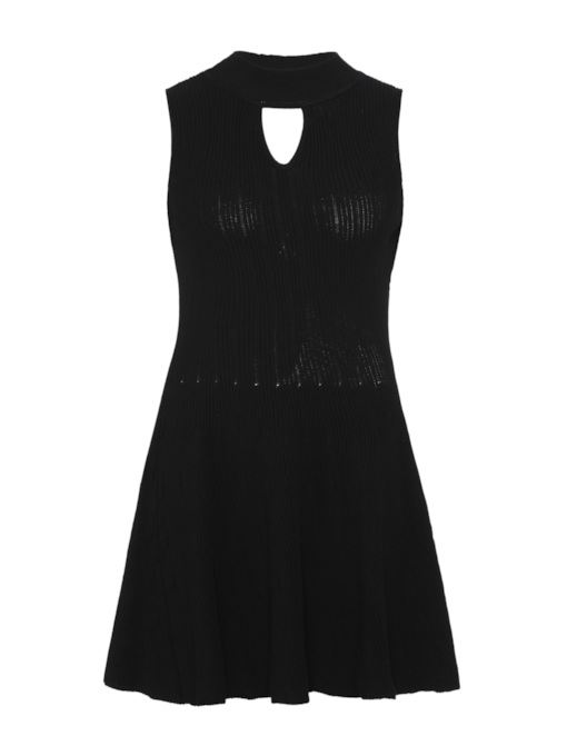 Black Sleeveless Women's Day Dress