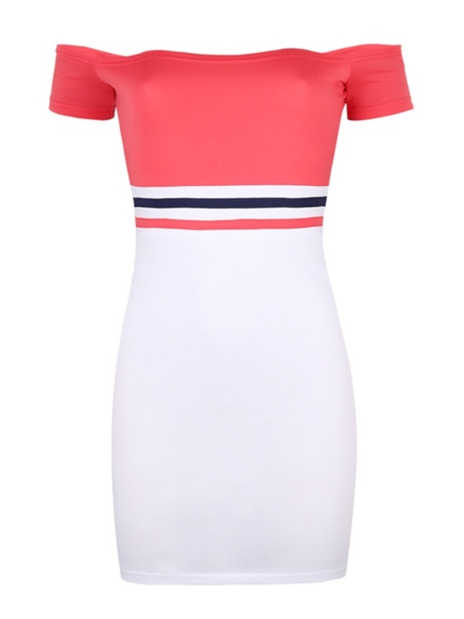 Short Sleeve Off Shoulder Women's Party Dress