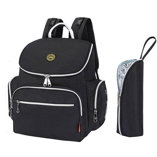 Plain Canvas Wear Resisting Zipper Mother's Backpack