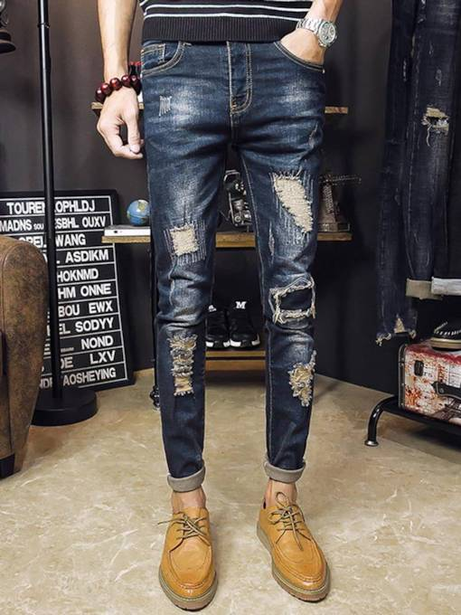 England Style Vintage Straight Men's Jeans