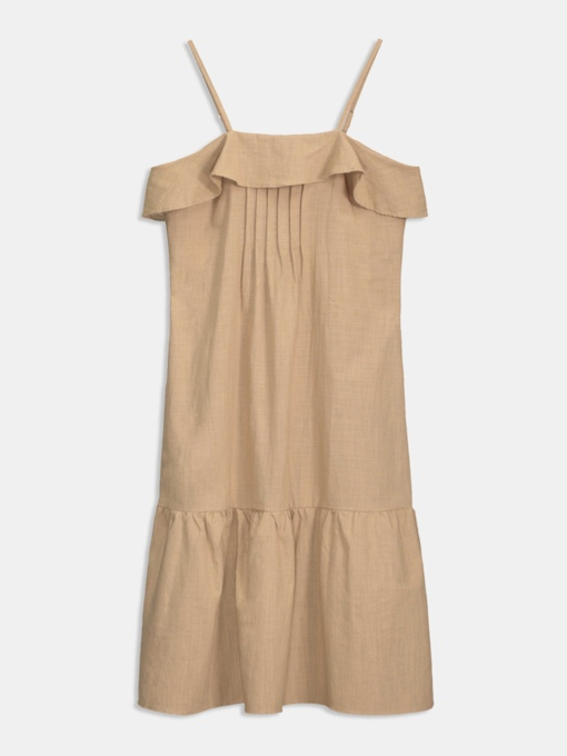 Khaki Strappy Women's Day Dress