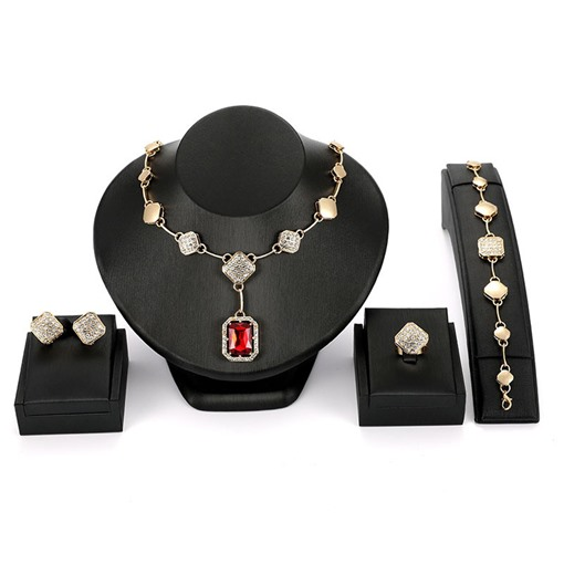 Diamante Rhinestone Inlaid Wedding Jewelry Sets