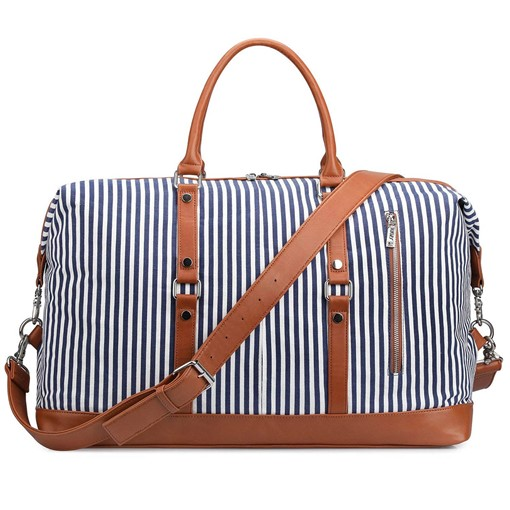 Fashion Stripe Canvas Unisex Travel Tote