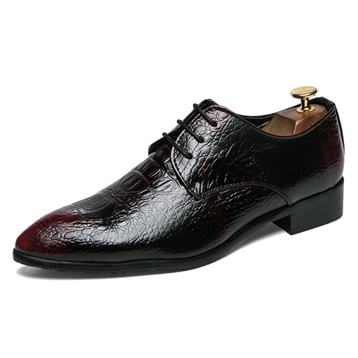 Pointed Toe Lace-Up Low-Cut Upper Professional Business Men's Oxford