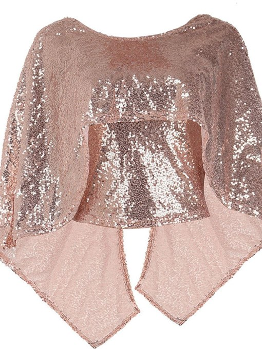 Chic Sequins Batwing Sleeve Women's Cape