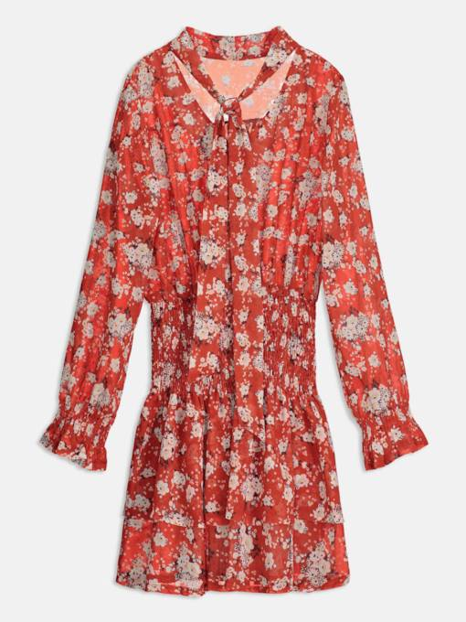 Long Sleeve Floral Women's Day Dress