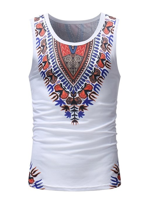 Dashiki Thin Slim Fit Men's Vest