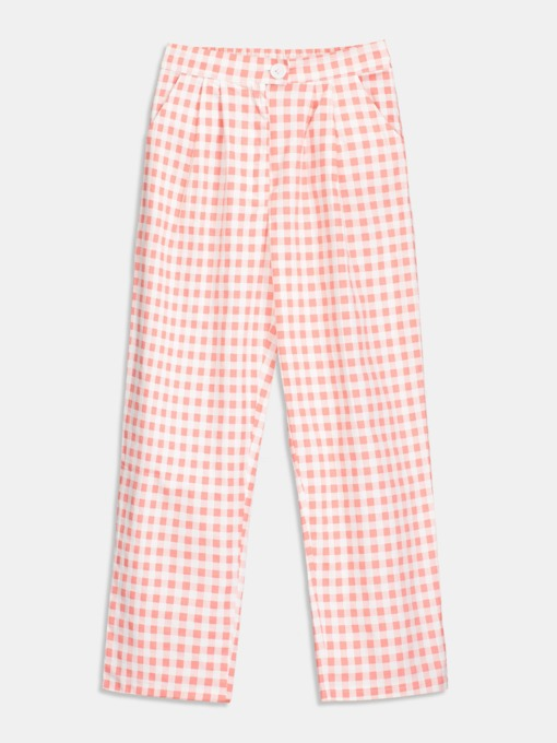 Color Block Plaid Loose Women's Harem Pants