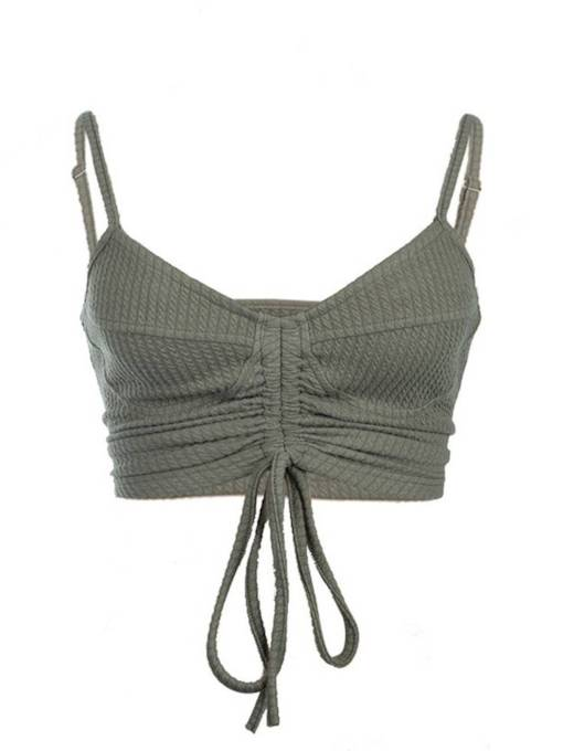 Sexy Lace Up Women's Summer Cropped Sweater