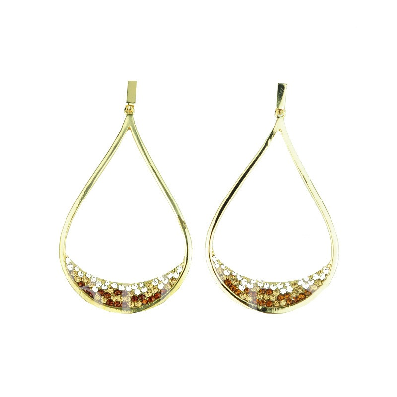 Sparkling Exaggerated Diamante Earrings