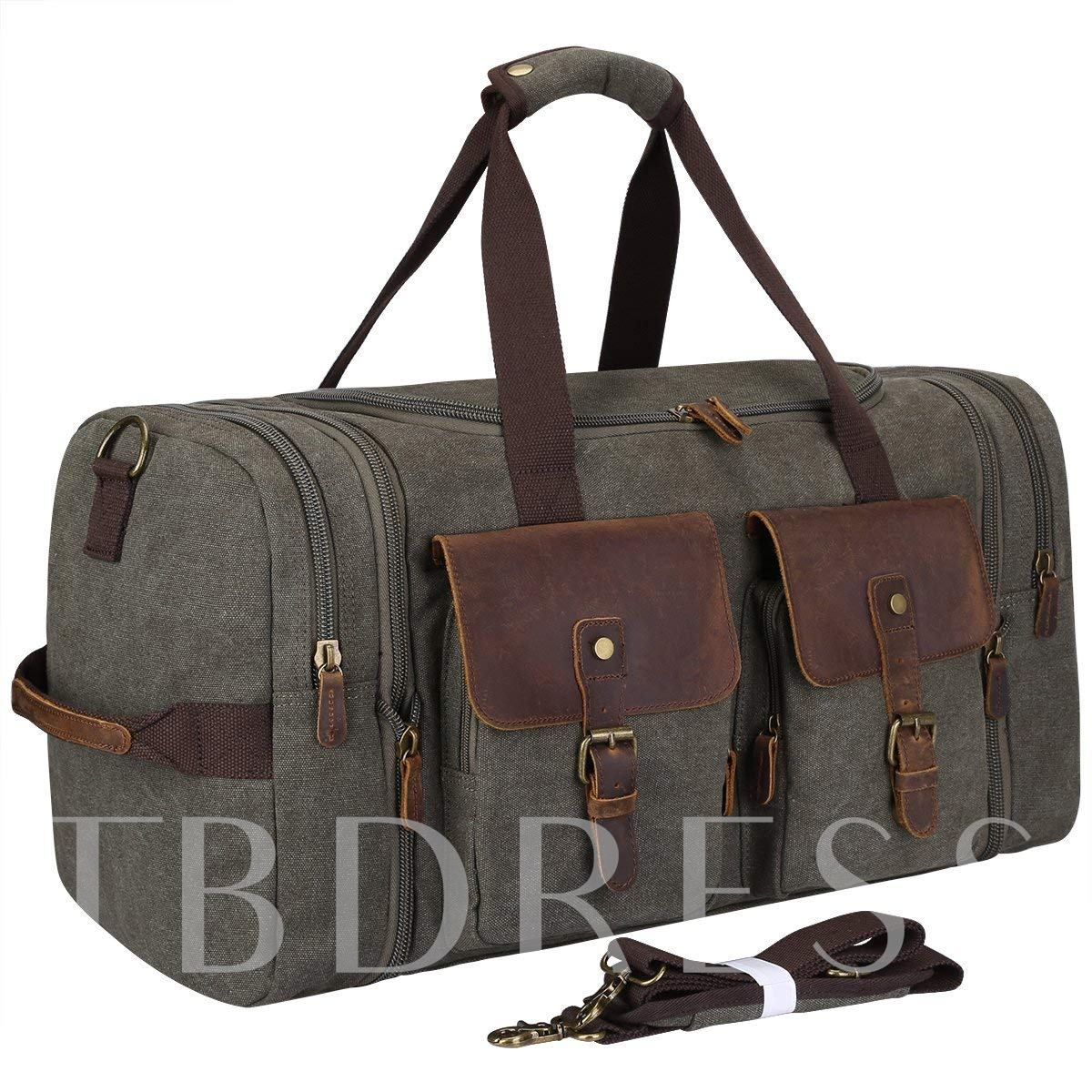 Huge Space Belt Decorated Men's Travel Tote