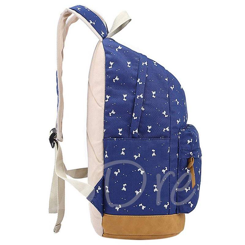 Anmial Print Canvas Soft Women Backpack