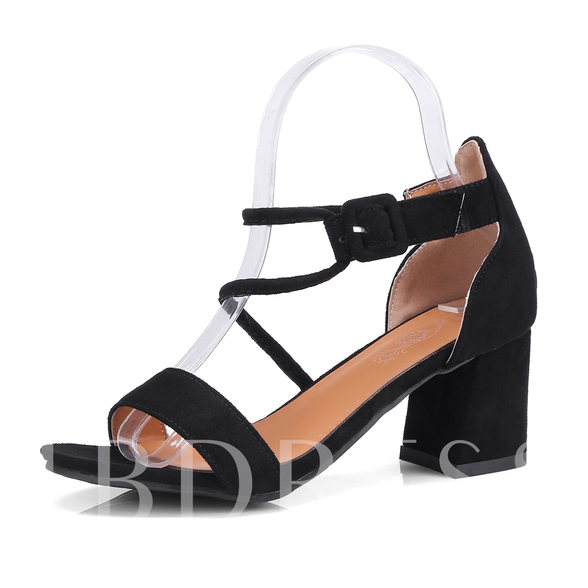 Buy Chunky Heel Buckle Heel Covering Suede Unique Women's Sandals, Spring,Summer, 13336142 for $45.86 in TBDress store