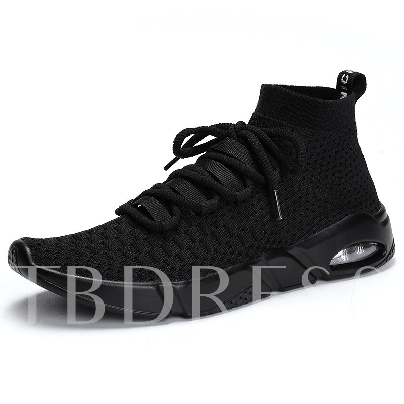High-Cut Lace Up Round Toe Air-Cushion Shoes for Men