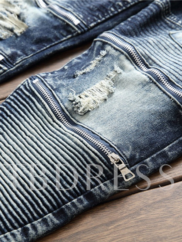 Straight Worn Slim Men's Leisure Jeans
