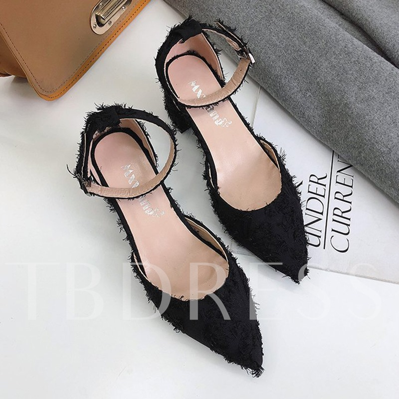 Buy Line-Style Buckle Suede Pointed Toe Dressy Pumps for Women, Spring,Summer,Fall, 13331806 for $30.28 in TBDress store