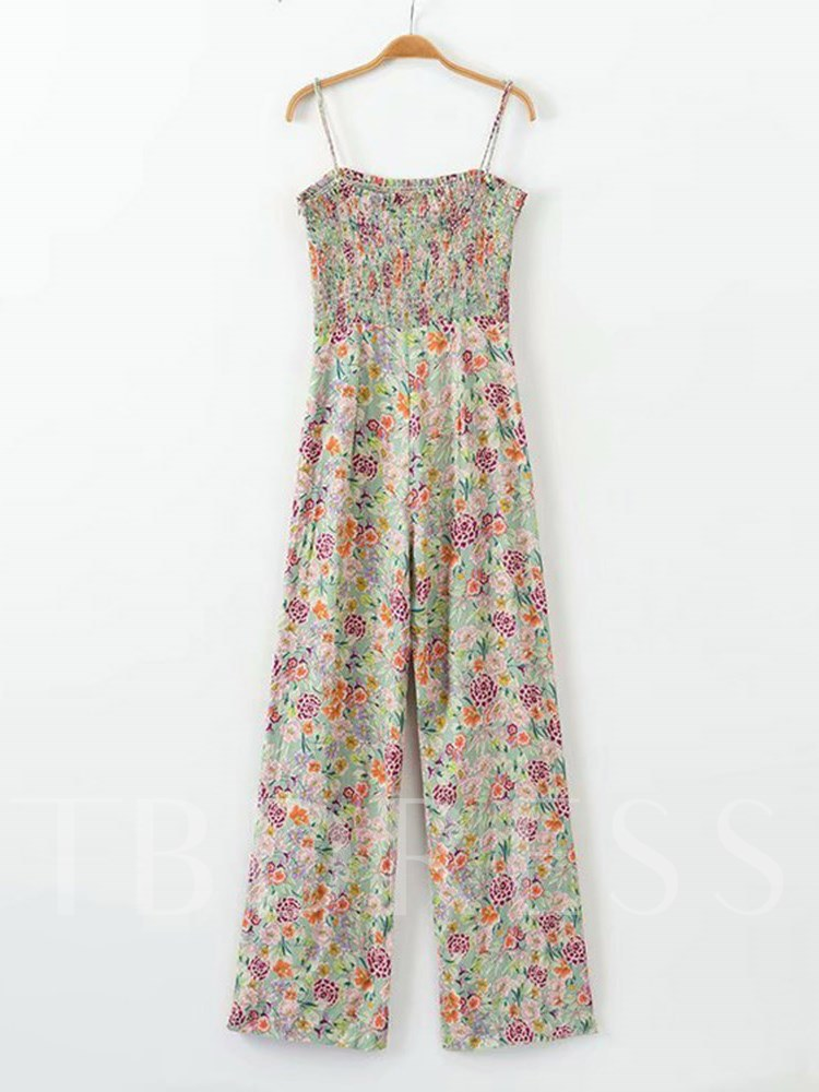 Buy High Waist Floral Print Cami Women's Jumpsuit, Summer, 13337885 for $21.32 in TBDress store