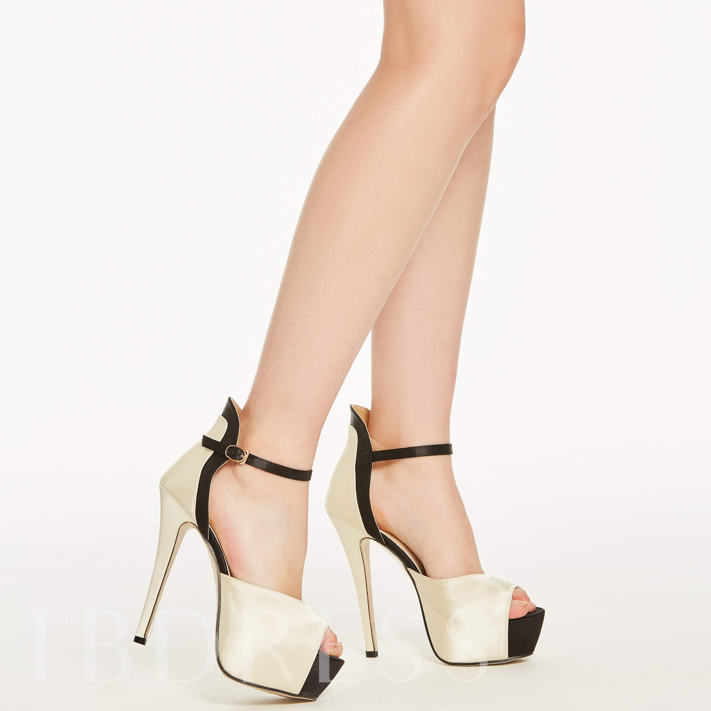 Formal Customized Peep Toe Stiletto Heel Women's Pumps