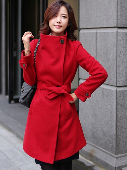 Slim Belt Fall Women's Overcoat