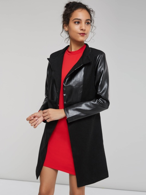 Slim Wide-Lapel Mid-Length Women's Overcoat