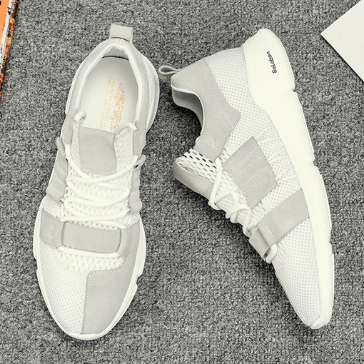 Mesh Lace-Up Round Toe Flat Professional Men's Trainers