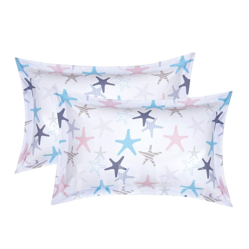 Simple Starfish Printing 4-Piece Polyester Bedding Sets/Duvet Cover
