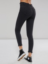 Destroyed Slim Fit Skinny High Waist Women's Jeans