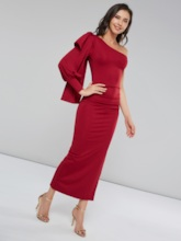 One Shoulder Bodycon Women's Maxi Dress