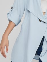 Roll Tab Sleeve Double-Breasted Women's Trench Coat