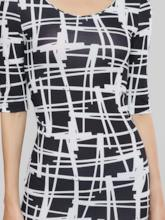 Raglan Sleeve Print Women's Bodycon Dress