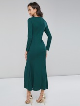 Long Sleeve Mermaid Women's Maxi Dress