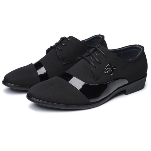 Round Toe Patchwork Plain Lace-Up Casual Men's Oxford