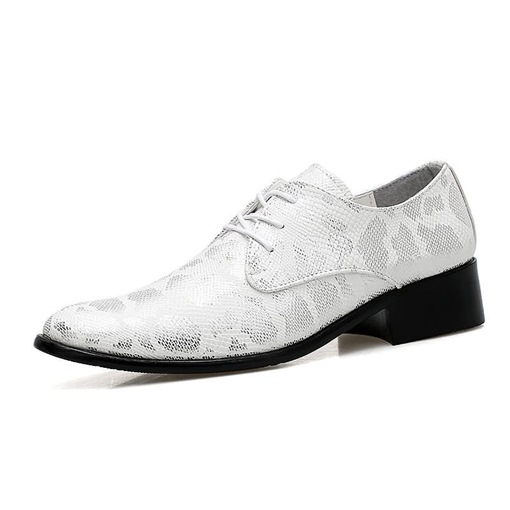 Pointed Toe Sequin Serpentine Lace-Up Exquisite Men's Oxford