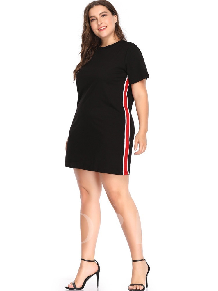 Stripe Short Sleeves Women's Bodycon Dress