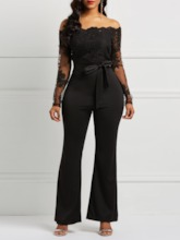 Patchwork England Full Length Slim Women's Jumpsuits