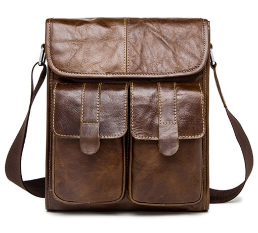 Business Leather Plain European Rectangle Shoulder Bags