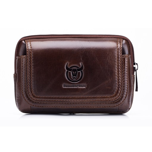 Men's European Leather Waist Bag