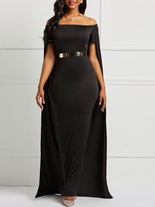 Backless Slash Neck Strapless Women's Sheath Dress