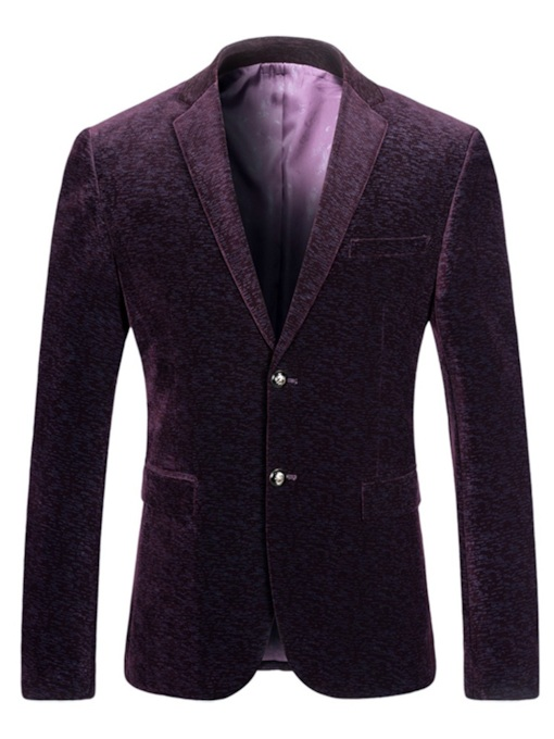 Notched LapelSingle-Breasted Corduroy Men's Blazer