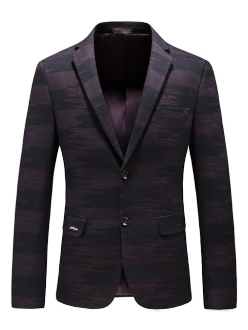 Slim Notched Lapel Patchwork Men's Blazer