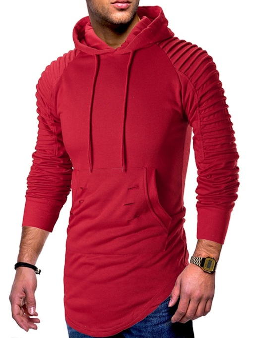 Casual Slim Plain Pullover Men's Hoodie