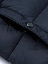 Slim Plain Thick Stand CollarHooded Men's Down Jacket