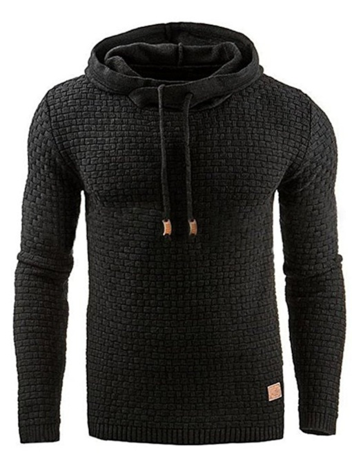 Slim Pullover Thick Plain Men's Hoodie