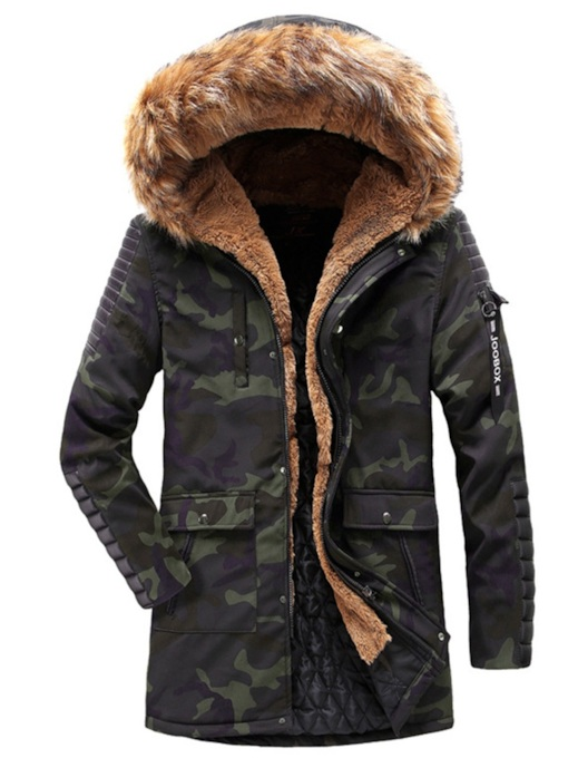 Slim Thick Mid-Length Camouflage Men's Jacket